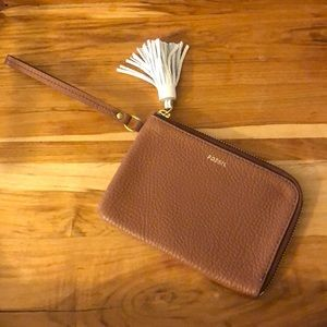 NWOT Fossil Brown Wristlet